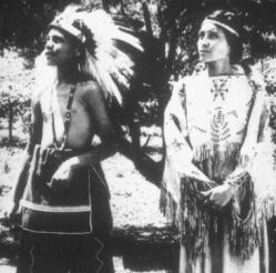 cherokee indians watching ritual